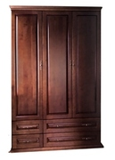 Шкаф трехдверный с ящиками Елисеевская мебель
