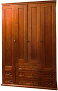 Шкаф четырехдверный с ящиками Елисеевская мебель