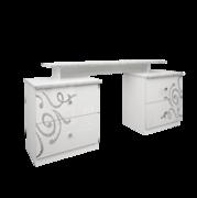 Туалетный столик 4 ящика комплект Богема глянец белый