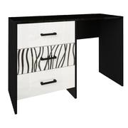 Туалетный столик комплект Терра глянец белый - черный мат