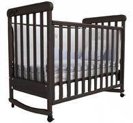 Детская колыбельная кроватка качалка Соня ЛД-12 Верес 60*120