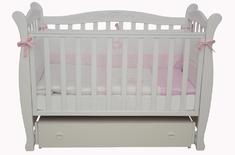 Детская колыбельная кроватка Соня ЛД-15 Верес 60*120