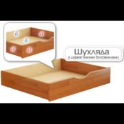 Выдвижной ящик для кроватей Дуэт/Нота с деревянными боковинами массив