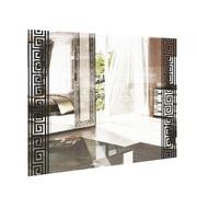 Зеркало 1000х800 комплект гостинная Виола Глянец белый - черный мат